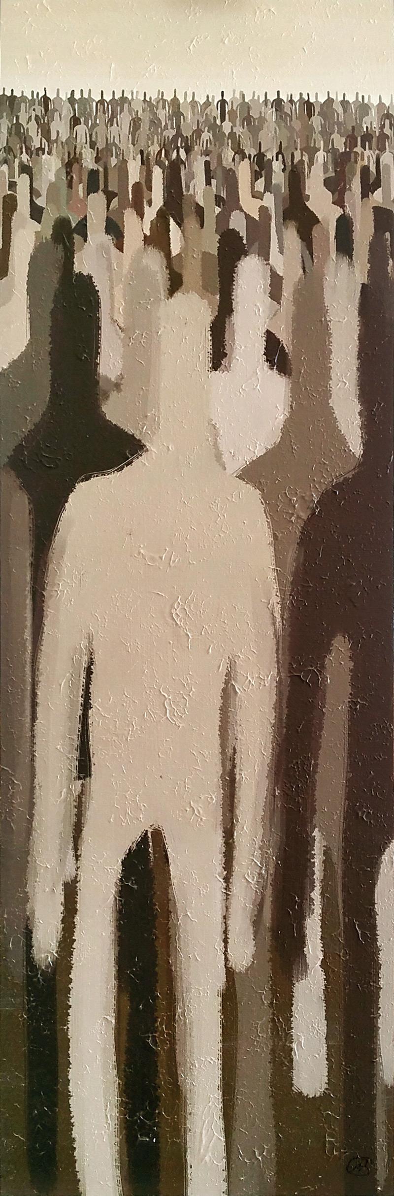 """Sulla massa"", 33x100, 2013"